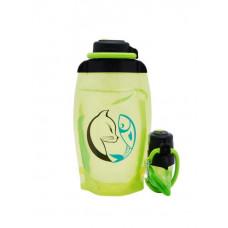 Складная эко бутылка, желто-зеленая, объём 500 мл - артикул B050YGS-1407 с рисунком