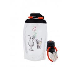 Складная эко бутылка, прозрачная, объём 500 мл - артикул B050TRS-210 с рисунком