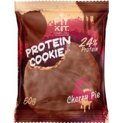 Печенье Fit Kit Chocolate Protein Cookie 24 50 г, 24 шт., вишневый пирог