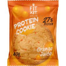 Печенье Fit Kit Protein Cookie 24 40 г, 24 шт., апельсиновый сок