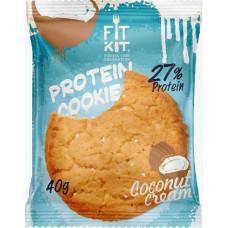 Печенье Fit Kit Protein Cookie 24 40 г, 24 шт., кокосовый крем