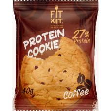 Печенье Fit Kit Protein Cookie 24 40 г, 24 шт., кофе
