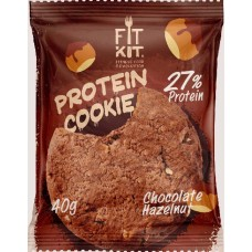 Печенье Fit Kit Protein Cookie 24 40 г, 24 шт., шоколад/фундук