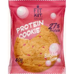 Печенье Fit Kit Protein Cookie 24 40 г, 24 шт., бабл-гам