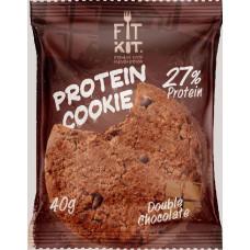 Печенье Fit Kit Protein Cookie 24 40 г, 24 шт., двойной шоколад