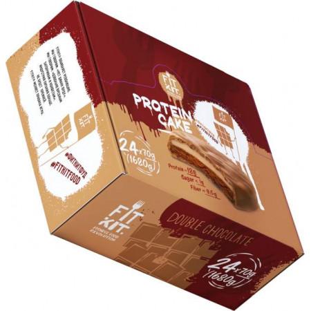 Печенье Fit Kit Protein Cake 24 70 г, 24 шт., двойной шоколад