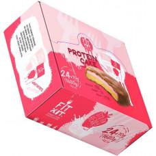 Печенье Fit Kit Protein Cake 24 70 г, 24 шт., клубника со сливками