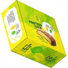 Печенье Fit Kit Protein Cake 24 70 г, 24 шт., лимон/лайм