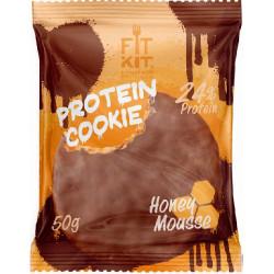 Печенье Fit Kit Chocolate Protein Cookie 24 50 г, 24 шт., медовый мусс