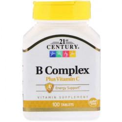 Витаминный комплекс 21st Century B Complex plus Vitamin C 100 таблеток