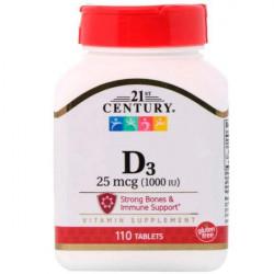 Витамин D3 21st Century D3 1000 IU 110 таблеток