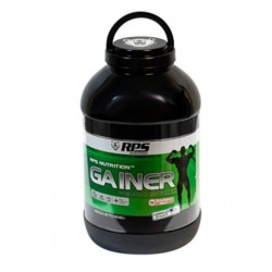 Гейнер RPS Nutrition Premium Mass Gainer - клубника, банка 4540г