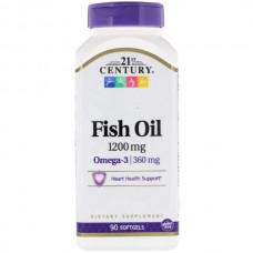 21st Century Omega 3 Fish Oil 1200 mg 90 капсул