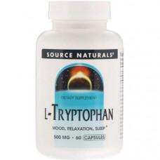 Source Naturals L-Tryptophan 500 mg натуральный