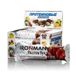 Батончик Ironman Protein Bar 12 50 г, 12 шт., ром/клубника