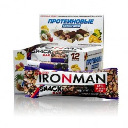 Батончик Ironman Snack Bar 12 40 г, 12 шт., черная смородина
