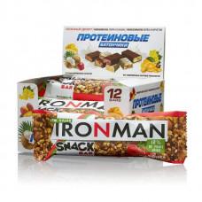 Батончик Ironman Snack Bar 12 40 г, 12 шт., клубника