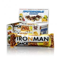 Батончик Ironman Snack Bar 12 40 г, 12 шт., лимон и орехи