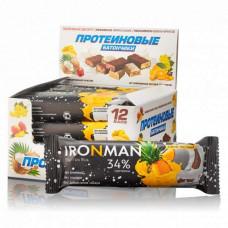 Батончик Ironman 32 Protein Bar 12 50 г, 12 шт., пина-колада