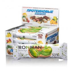 Батончик Ironman Protein Bar 12 50 г, 12 шт., фисташки