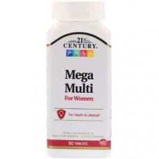 Витаминно-минеральный комплекс 21st Century Mega Multi For Women 90 таблеток