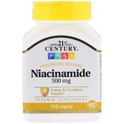 Витамин B3 21st Century Niacinamide 500 mg 110 таблеток
