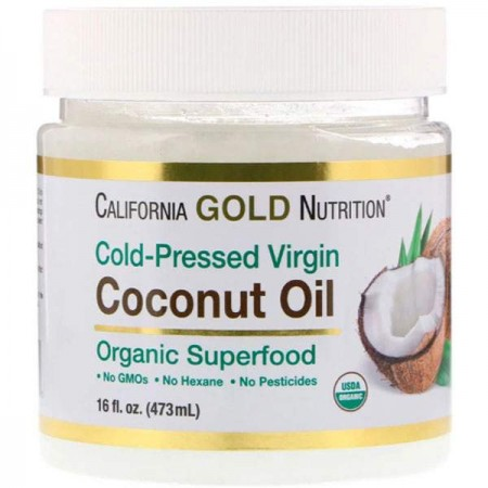 California Gold Nutrition Coconut Oil Organic Extra Virgin 473 ml