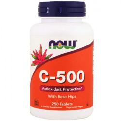 Витамин C NOW C-500 with Rose Hips 250 таблеток