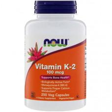 Витамин K2 NOW Vitamin K-2 100 mcg 250 капсул