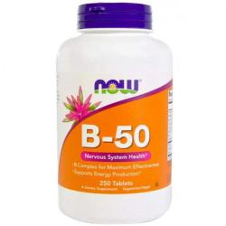Комплекс витаминов группы B NOW B-50 Complex 250 таблеток