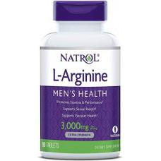 Natrol L-Arginine 3000 mg 150 г, 90 таблеток без вкуса