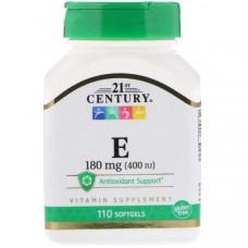 Витамин E 21st Century Vitamin E 400 110 капсул