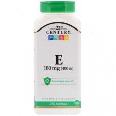 Витамин E 21st Century Vitamin E 400 250 капсул