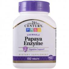 21st Century Papaya Enzyme 100 таблеток