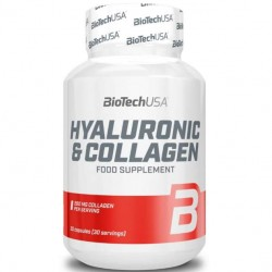 Hyaluronic & Collagen BioTech 30 капсул без вкуса