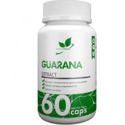 Энергетик NaturalSupp Guarana 60 капсул, без вкуса