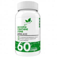 NaturalSupp Аминокислотный комплекс Arginine Ornithine Lysine 60 капсул unflavoured