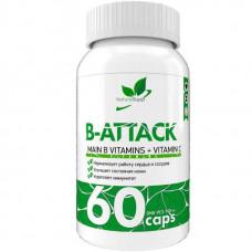 Витамины группы B NaturalSupp B-Attack 60 капсул