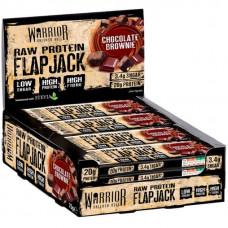 Батончик Warrior Raw Protein Flapjacks 12 0.08 г, 12 шт., chocolate brownie