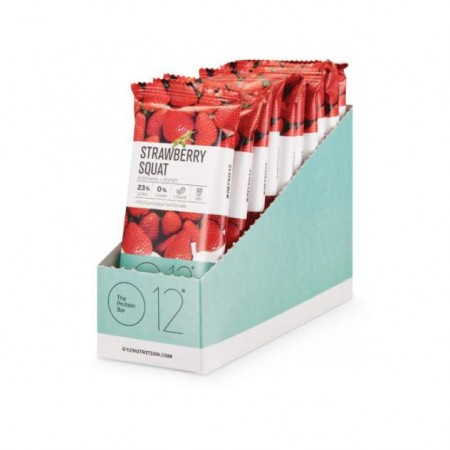 Вафли О12 The Protein Bar 12 50 г, 12 шт., клубника + йогурт