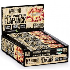 Батончик Warrior Raw Protein Flapjacks 12 0.08 г, 12 шт., white chocolate & cranberry