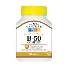 Витаминный комплекс 21st Century B-50 Complex 60 капсул