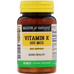 Витамин K2 Mason Natural 100 mcg 100 таблеток