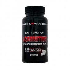 Ironman L-карнитин тартрат 60 капсул без вкуса