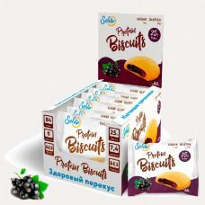Печенье Solvie Protein Biscuits 10 40 г, 10 шт., черная смородина
