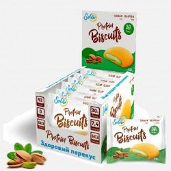 Печенье Solvie Protein Biscuits 10 40 г, 10 шт., фисташки