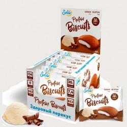 Печенье Solvie Protein Biscuits 10 40 г, 10 шт., промбир