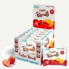 Печенье Solvie Protein Biscuits 10 40 г, 10 шт., клубника