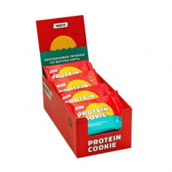 Печенье Vasco Protein Cookie 12 60 г, 12 шт., мята