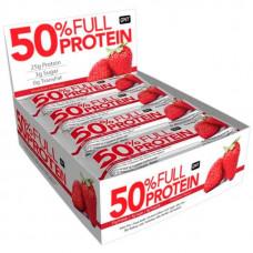 Батончик QNT Full Protein Bar 12 50 г, 12 шт., клубника